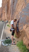 Rock Climbing Photo: Fist Full of Potash 5.10a