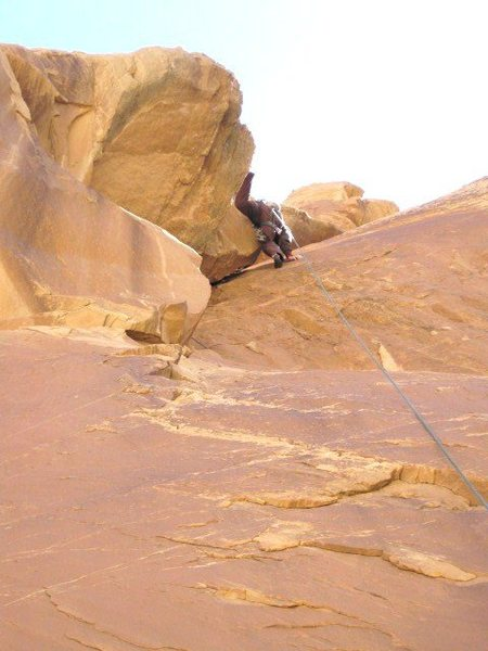 Third pitch in the main crack.