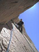 Rock Climbing Photo: Lance top of third pitch.