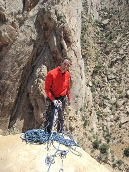 Lance on the top belay.