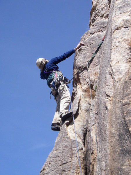 Rock Climbing Photo: Jeff turning the corner