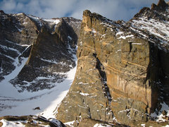 Rock Climbing Photo: Flying Buttress, right chimney and Ships Prow in w...
