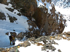 Rock Climbing Photo: Bill Duncan emerges from the gully.