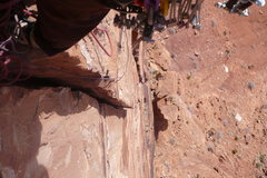 Rock Climbing Photo: Looking down from the top of pitch two. Photo by P...