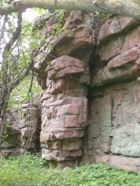 Rock Climbing Photo: The right walls off