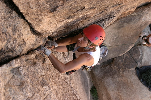 Rock Climbing Photo: Lisa Pritchett leading Primal Urge