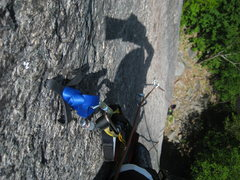 Rock Climbing Photo: Pitch 3: one of the few hook moves between bolts o...