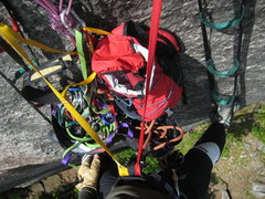 Rock Climbing Photo: Thank Jove this route doesn't take a lot of gear o...