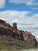 Rock Climbing Photo: The Pillbox from 313. A pic of the route will foll...