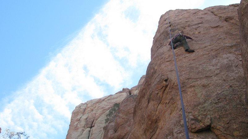 Rhesa Ashbacher on a climb somewhere on Queen Mountain.