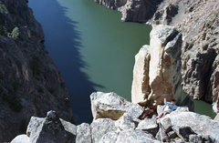 Rock Climbing Photo: E. Foster, just below the summit.