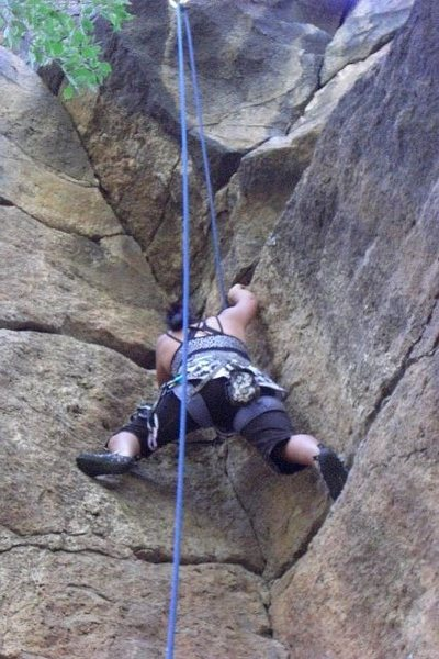 Rock Climbing Photo: Stemming