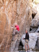 Rock Climbing Photo: The usual suspects! EFR on his way to an awesome, ...