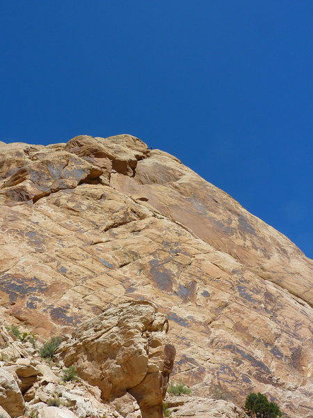 To give scale.The climbers on the short last pitch..Click twice to enlarge. Photo Mike Kinney