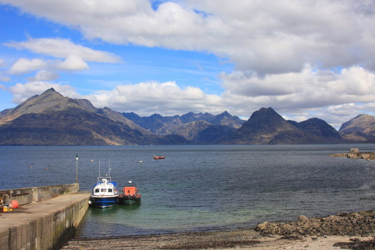 Rock Climbing Photo: Elgol and the Cullins. Photo Denis Peare.