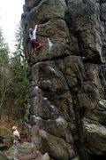 Rock Climbing Photo: Approaching the crux on Kurtykowka