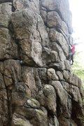Rock Climbing Photo: Johny cruising up Toto Lotek