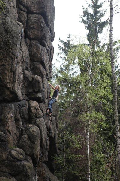 Climber on Toto Lotek