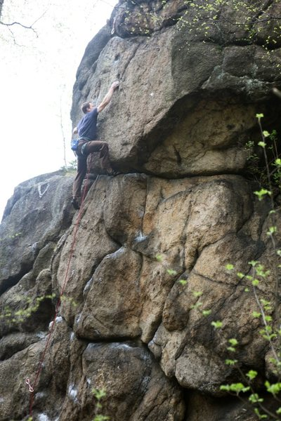 Dan at the crux of Nachy w Dachy