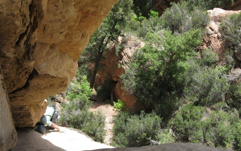 Rock Climbing Photo: the first crux