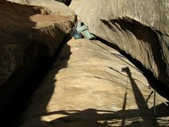 Rock Climbing Photo: trihedral section up to the pillar