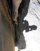Rock Climbing Photo: final chimney section
