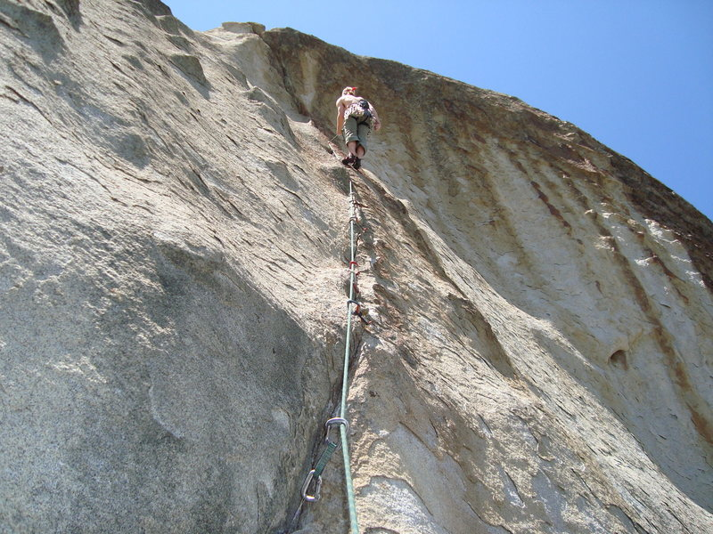 Rock Climbing Photo: Mike working this beastly thing.