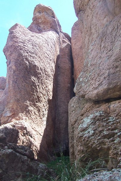 Rock Climbing Photo: Illegal Dihedral...dihedral inside crack on left.