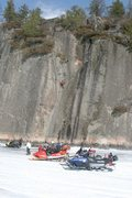 Rock Climbing Photo: First attempt to free winter of 2010, Finaly sent ...