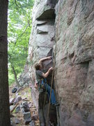 Rock Climbing Photo: Rhoads at the start, before the dog jack-assery.