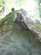 Rock Climbing Photo: Topping out Butt Bongo.  Photo by Jonah.
