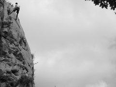 Rock Climbing Photo: (Great) butt in the sky. La Balme-de-Thuy