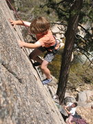 Rock Climbing Photo: Thad climbing Crack Two at Deep Creek Narrows
