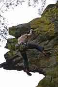 Rock Climbing Photo: I forgot my left shoe - Chris (from Milwaukee?) ha...