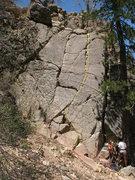 Rock Climbing Photo: Crack Two, 5.6