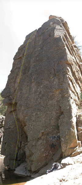 Overhang Crack, Deep Creek Narrows, 5.8