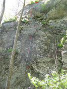 Rock Climbing Photo: The middle looks blank, but there's enough to get ...