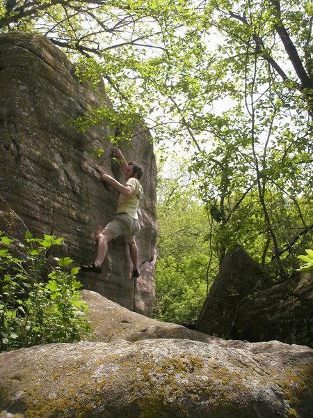 Rock Climbing Photo: stumped