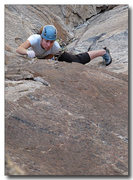 Rock Climbing Photo: Erica Bigio leading 2nd pitch of Pitfalls of Hesit...