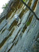 Rock Climbing Photo: Missing Link. Lancelot/Secret Chimp goes straight ...