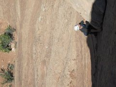 Rock Climbing Photo: Brad pulling the dangerous  choss-corner on P2