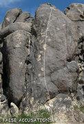 "Rock Climbing Photo: ""False Accusations"". Photo by Blitzo."