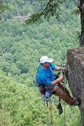 Rock Climbing Photo: Adding the the final anchors (top anchors) It's na...