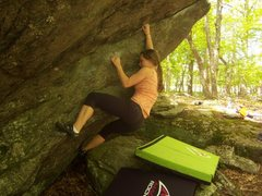"Rock Climbing Photo: Joanna Jennings on ""Periscope"" (V-3) at ..."