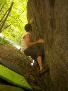 Rock Climbing Photo: Philip Yates pulling hard on the classic GHSP test...