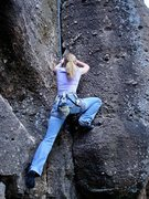 Rock Climbing Photo:  Mishel in Castlewood