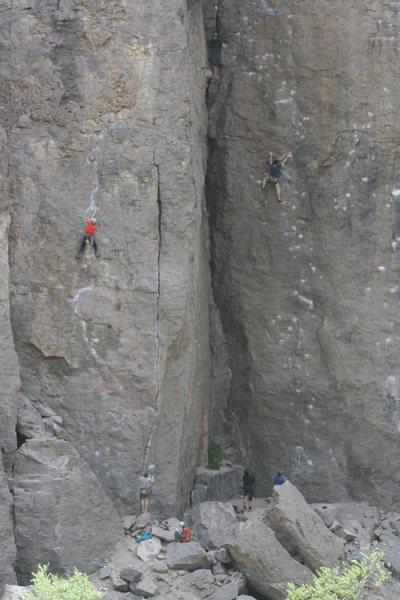 Rock Climbing Photo: Craig on Expressway. 5-15-10
