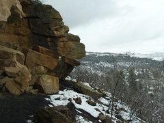 Rock Climbing Photo: Winter base.