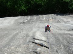 Rock Climbing Photo: Coming up from the toilet bowl.Photo by Loran Smit...