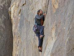 Rock Climbing Photo: Tucker Tech on Buttmilk  (5.8)